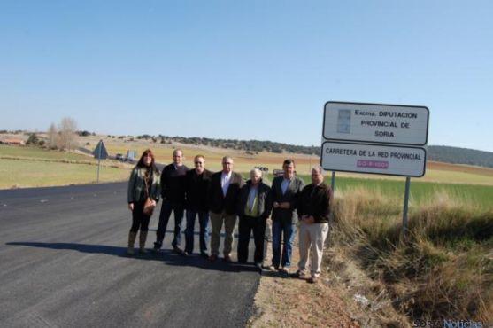 Participantes en la visita a las obras.