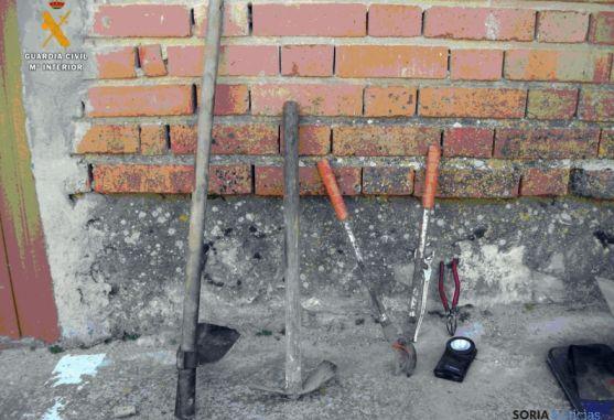 Herramientas utilizadas en el robo.