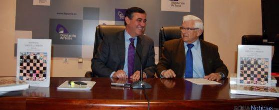 Antonio Pardo y Juan Manuel Ruiz Liso, en la presentación del libro