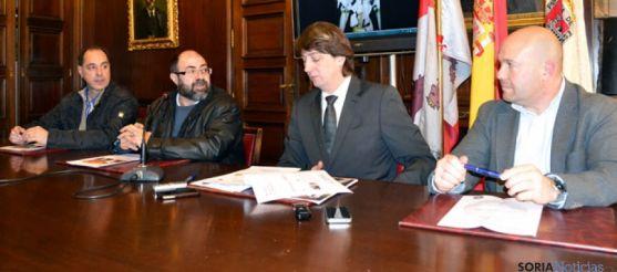 Ángel Calavia, José Antonio Pérez, Carlos Martínez y José Manuel Aceña