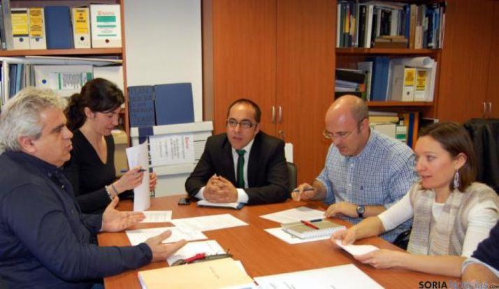 Imagen de la reunión desarrollada en la mañana del lunes.