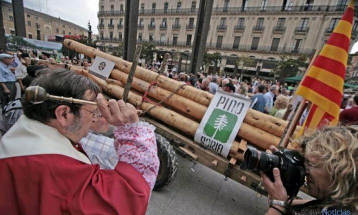 Los carreteros en una de sus actividades en Zaragoza.