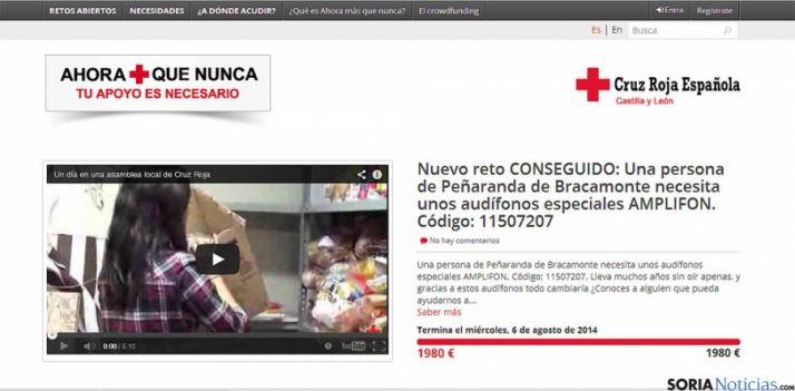 La web solidaria de Cruz Roja.