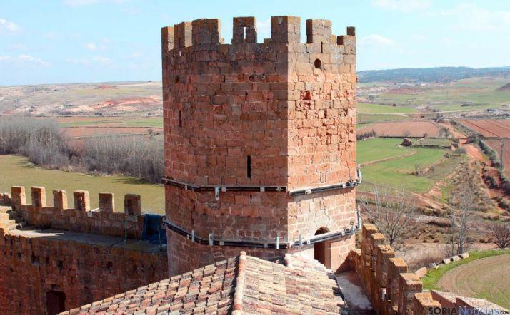 Estado final de la torre del homenaje del castillo de Altamira, en Monteagudo
