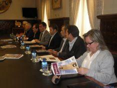 Alcaldes con el presidente de la Diputación