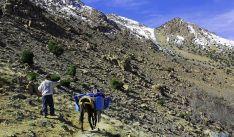 Un tramo de ascensión al Toubkal.