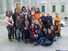 Atletas y acompañantes en Madrid