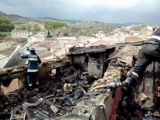 Fotos del incendio de Cihuela