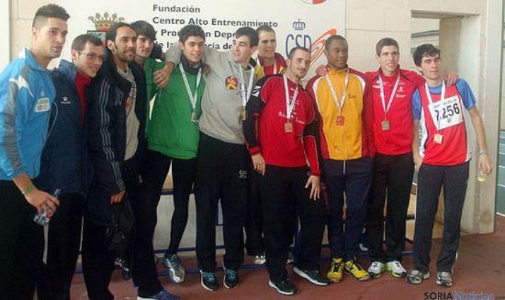 Atletas del equipo de combinadas del CAEP.
