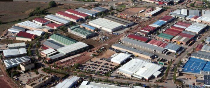 Vista aérea del Polígono de Las Casas, en la capital.