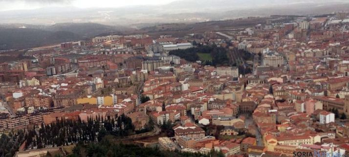 Imagen aérea de la ciudad de Soria.