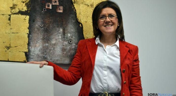 Marimar Angulo, en la sede del PP de Soria