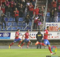 Celebración del segundo gol