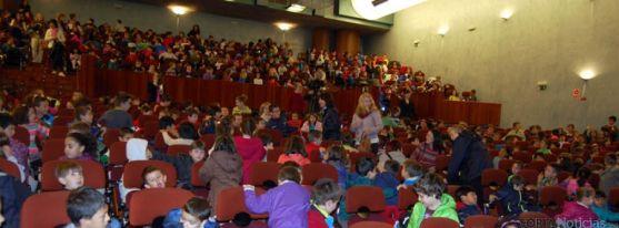 Los pequeños estudiantes este martes en La Audiencia.