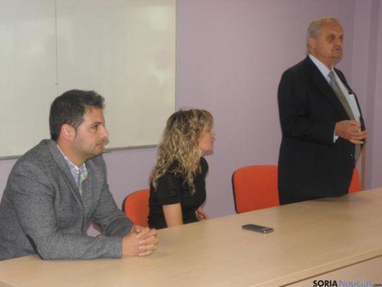 Jesús Ciria, Nuria Sánchez y Antonio Esteban
