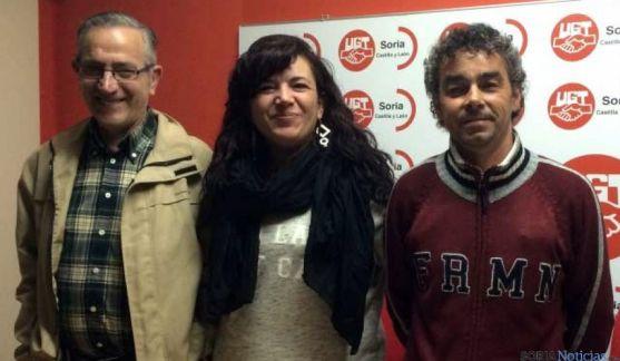 Azucena Pérez, con Rincón y Jiménez.