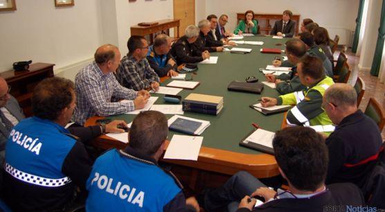 Sesión de la Junta Local de Seguridad este jueves.