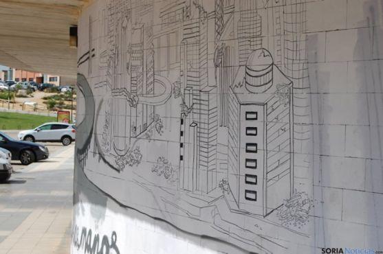 Mural en Los Pajaritos