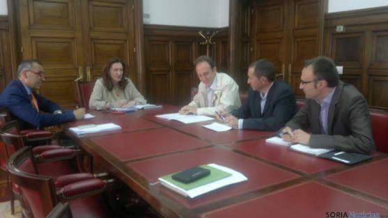 Reunión en la Subdelegación con APORSO