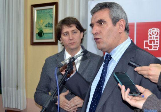 Martínez Minguez y Villarrubia en un acto en Soria