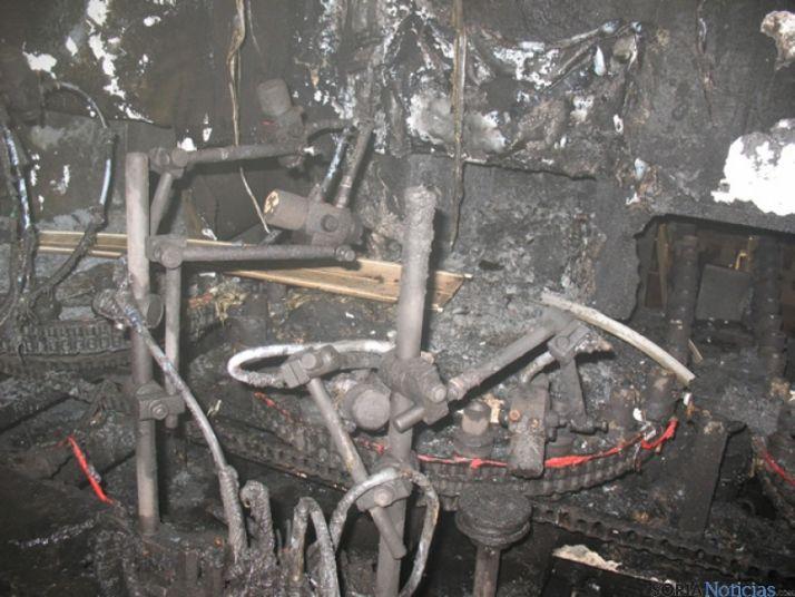 Fotos del incendio en Almazán