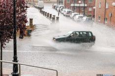Sugerente imagen de la tormenta de este martes. / FV