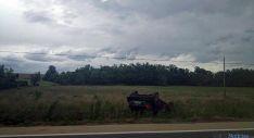 El vehículo accidentado en Cidones.