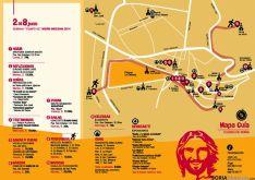 El plano explicativo con los días y lugares donde se celebrarán las actividades.