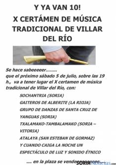 Cartel del certamen de música tradicional