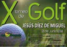 Cartel del Torneo de Golf en Ríoseco