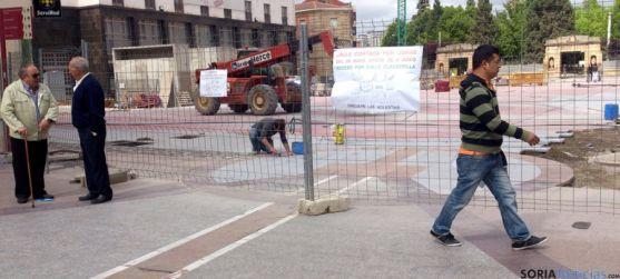 Imagen de la plaza de Mariano Granados este miércoles