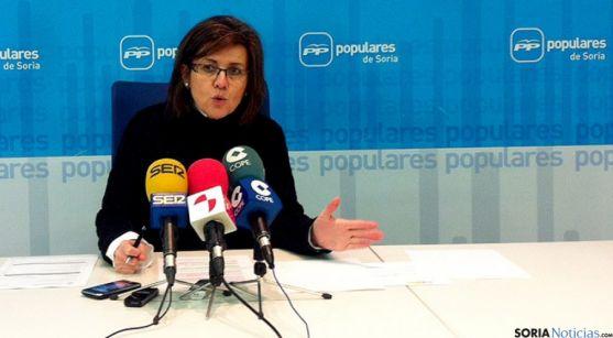 La presidenta del PP soriano, Marimar Angulo.