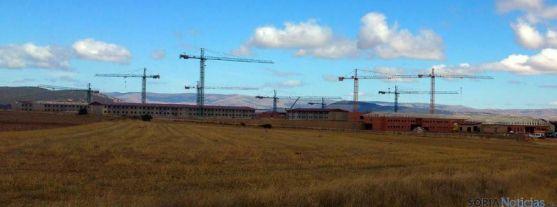 Obras de la nueva prisión de Soria en una imagen de archivo.