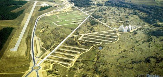 Vista aérea actual del ahora llamado Parque Empresarial del Medio Ambiente.