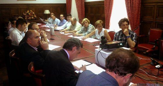 Representantes sorianos en la reunión por videoconferencia.