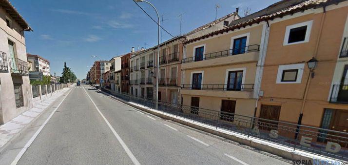 Una de las calles de la localidad.