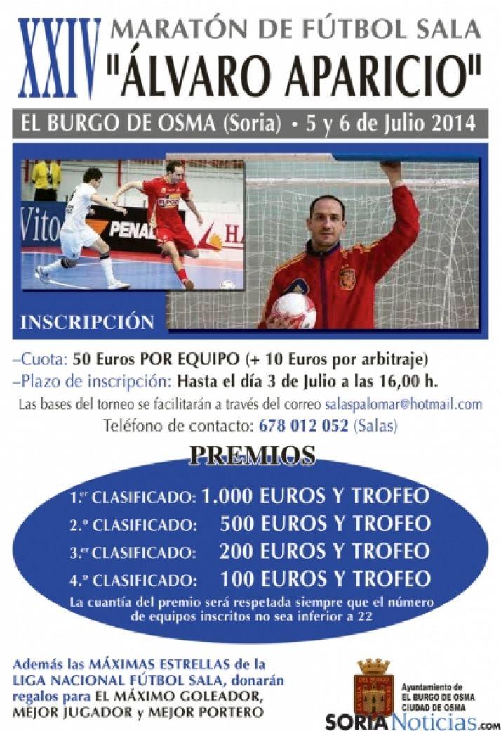 Cartel del torneo en el Burgo.