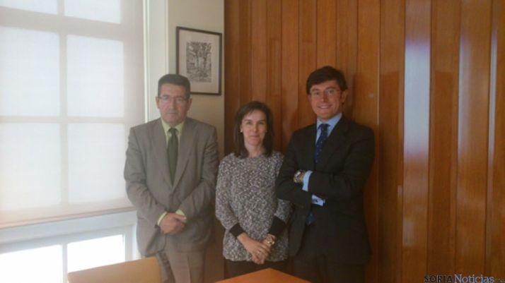 Fermín Álvarez Lata, Pilar Sanjurjo y Jerónimo Sánchez