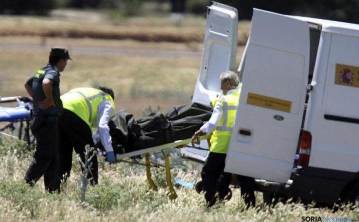 Foto 1 - Avanzan las investigaciones para aclarar el accidente aéreo en Garray
