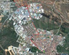 El trazado en el casco urbano de la capital.