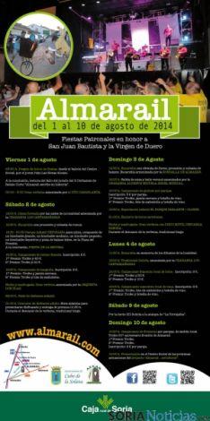 Cartel de las fiestas de Almarail.
