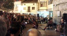 Imagen de la plaza de Santa María este martes. / SN