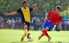 El agredeño Bonilla en el partido contra el Atlético de Madrid del año pasado. / SN