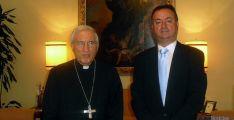 El cardenal Rouco con Jesús Alonso.
