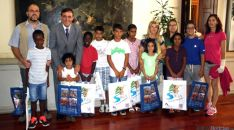 Los niños saharauis en el Palacio Provincial. / Dip