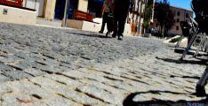 Aspecto del suelo de la plaza del Vergel. / SN