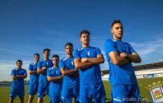Jugadores del Arandina CF.