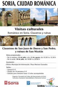 Cartel visitas al románico de Soria