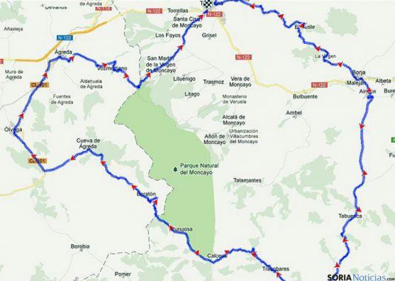 Mapa con el recorrido de la prueba.