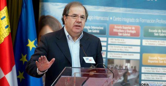 Juan Vicente Herrera este viernes en Aranda de Duero. / Jta